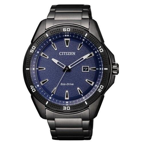 CITIZEN星辰 GENTS時光浩瀚光動能腕錶-黑45mm(AW1585-55L)【ERICA STORE】