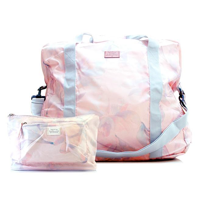 輕便手提旅行雙包組 - 手提包+小收納包 (附收納外袋)