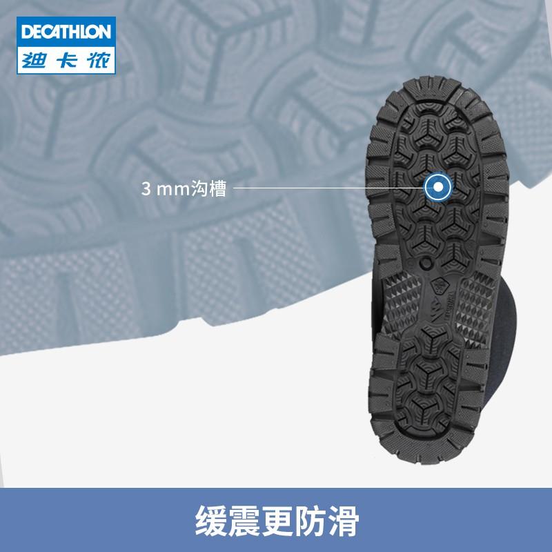 迪卡儂兒童雪地靴女童秋冬棉鞋男童冬季防水保暖棉靴防滑靴子KIDD