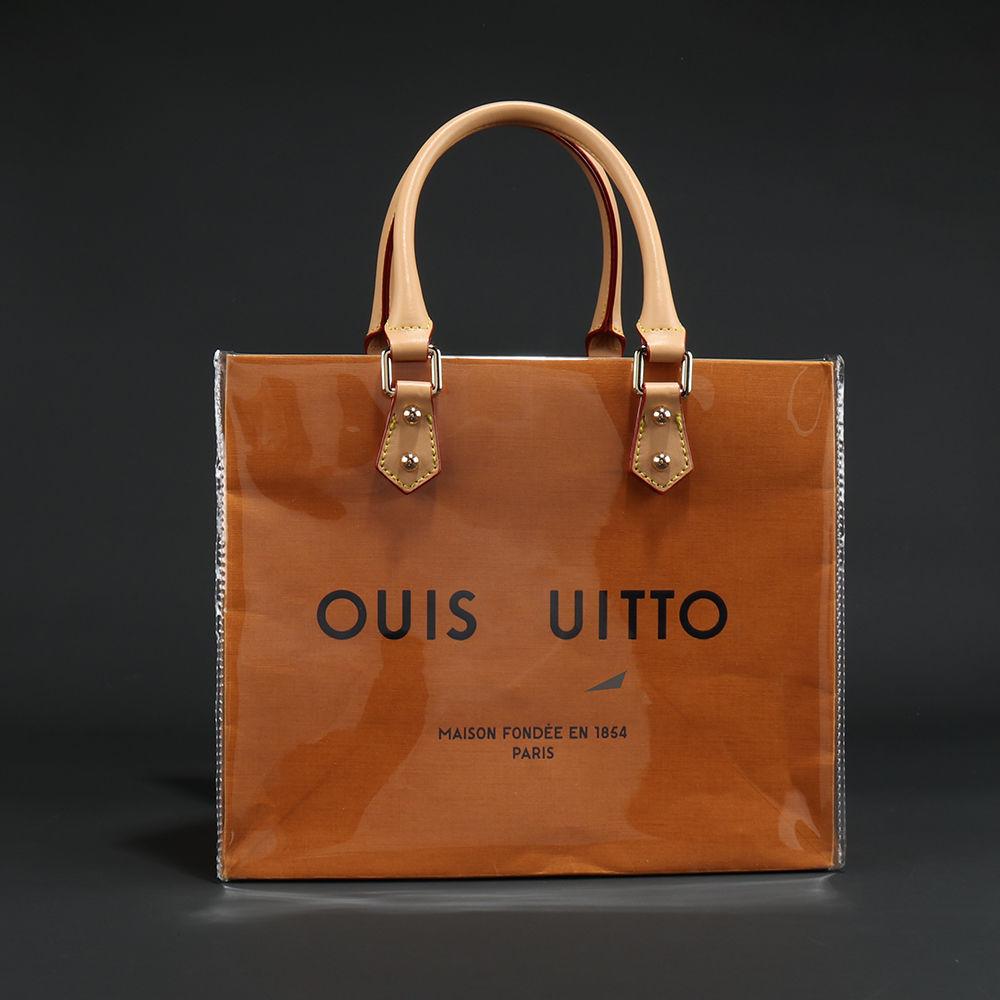 名牌紙袋 lv 紙袋包 紙袋改造 大牌紙袋 禮品購物袋 改造手提包 斜跨包 定製工具配件 DIY 透明材料包 高質量 n