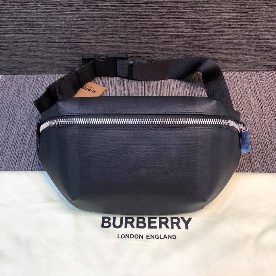 二手正品 Burberry 19FW 經典格紋腰包