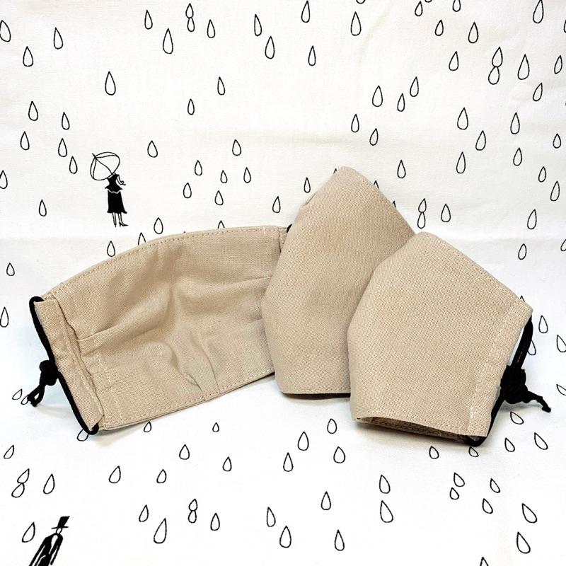《JIN JIN》新版✨兩用立體布口罩 奶茶色