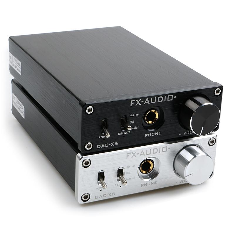 FX-AUDIO DAC-X6 HiFi 2.0 Digital Audio Decoder DAC Amplifier