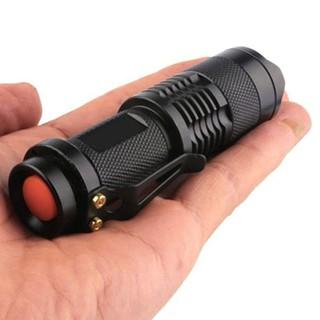 迷你手電筒3000LM Q5 LED手電筒AA /  14500可調變焦聚焦手電筒燈Pe