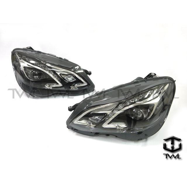 全新BENZ W212 14~15年原廠標準版改頂級版R8樣式黑底魚眼HID大燈組