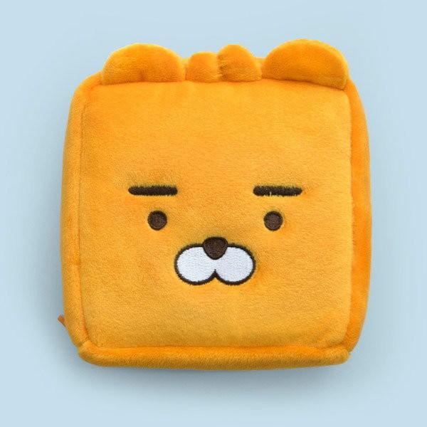 【Kakao Friends】韓國 立體絨布方形收納袋/化妝包-LittleRyan