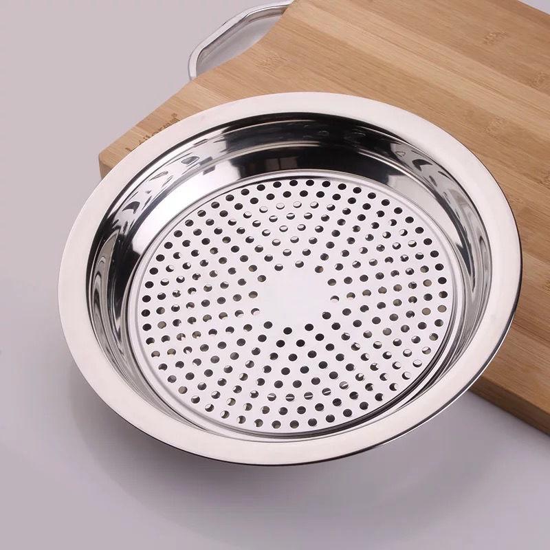 ∈✖♙現貨 304不鏽鋼茶盤 熱銷 速發  餃子盤304不銹鋼托盤圓盤餃盤家用瀝水盤水餃盤創意多用盤子平盤