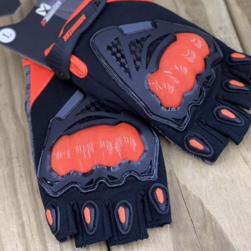 🛵大葉騎士部品 現貨 Masontex 黑 橘 半指手套 防摔手套 美式 復古 機車 騎士 手套 露指
