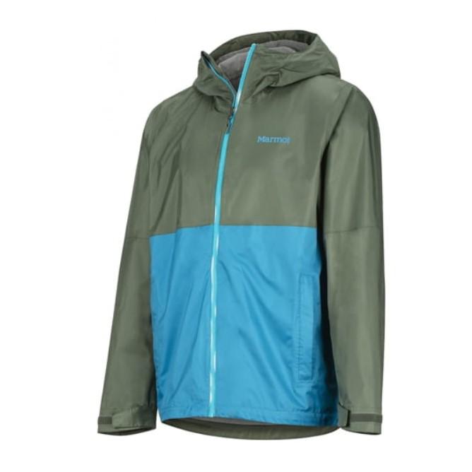 售全新現貨男生藍綠雙配色Marmot PreCip Eco Plus Jacket M號