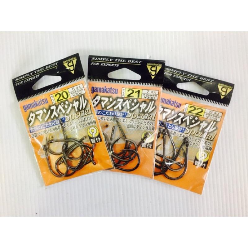 GAMAKATSU 管付釣鉤(倒鉤) 大斑鉤 石斑鉤 船釣鉤 海釣 魚鉤