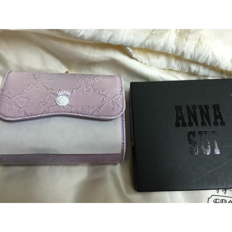 Anna Sui 粉色玫瑰短夾