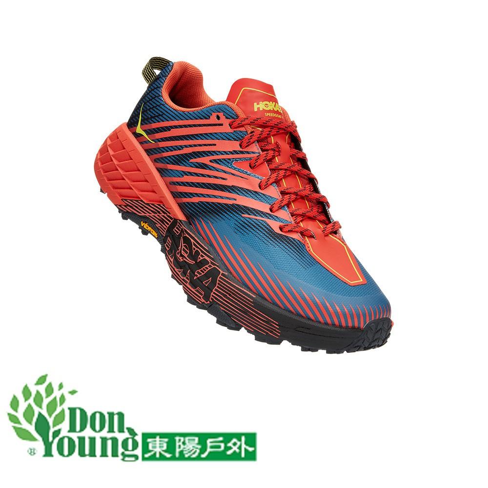 【HOKA ONE ONE】Speedgoat 4 男鞋 寬楦 野跑鞋 嘉年華紅霧藍