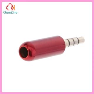 GamZine 3.5毫米1/ 8英寸TRRS 4極公插頭A/ V焊料連接器, 黑色