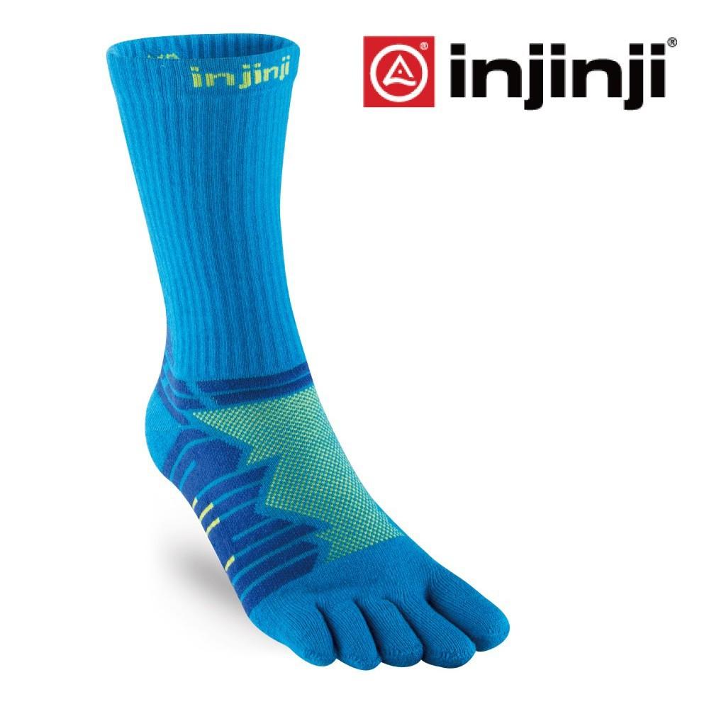 【INJINJI】Ultra Run終極系列五趾中筒襪[檸藍]避震運動襪   IN181NAA6743