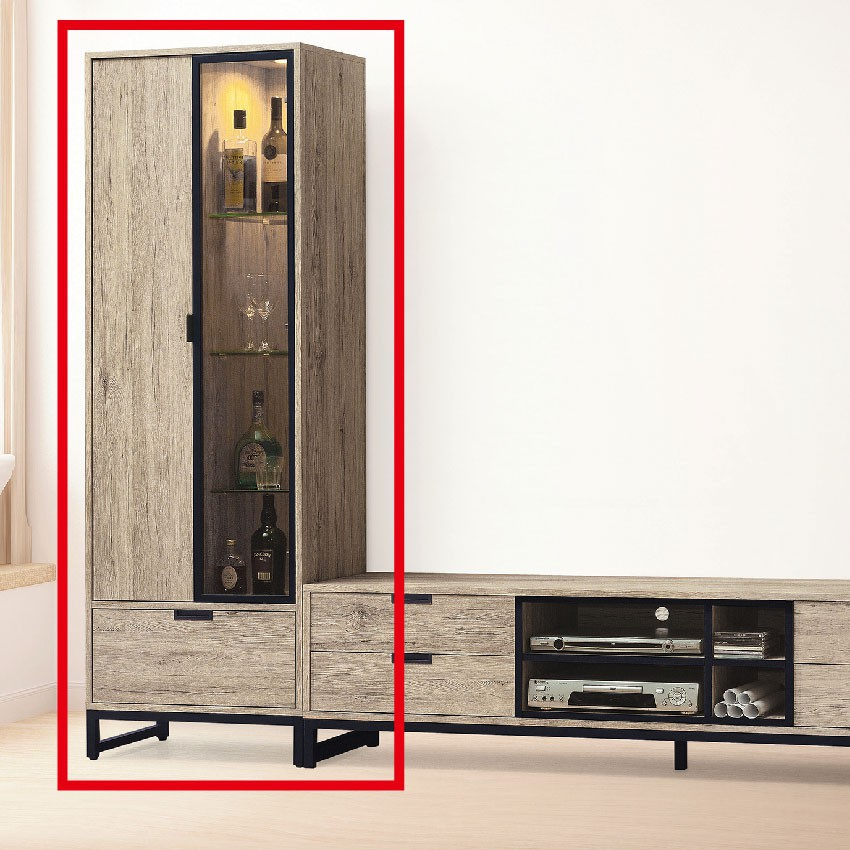 【60cm展示櫃-E401-3】客廳組合長櫃 展示收納櫃 北歐工業風 TV櫃 【金滿屋】