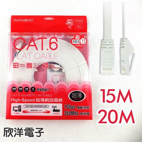 Magic 鴻象 Cat6 High-Speed 超薄網路線/台灣製造/15M/20M