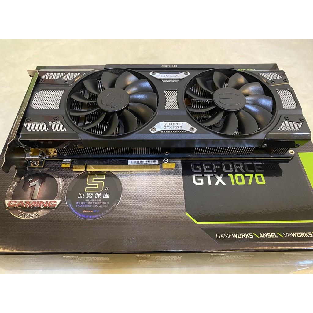 """二手良品 """" 艾維克 EVGA GeForce GTX 1070 SC GAMING 8G """" 售價 12000元"""