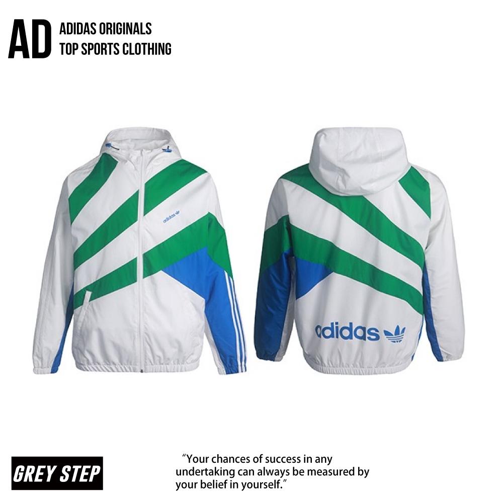 Adidas 愛迪達 三葉草 防風外套 運動外套 外套 GE0811 白色 綠色 GE0811 全新公司貨 統一發票