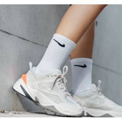 NIKE M2K TEKNO 白色 白橘 白橘色 厚底 老爹鞋 女鞋 AO3108-001
