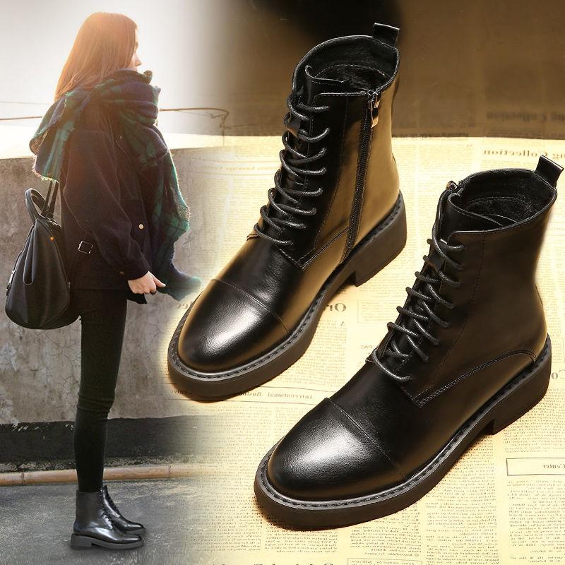 熱銷馬丁靴女2020新款加絨冬季英倫風網紅女鞋瘦瘦短靴百搭潮ins靴子