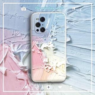 水彩畫oppofindx3手機殼findx3pro保護套液態硅膠防摔超薄攝像頭