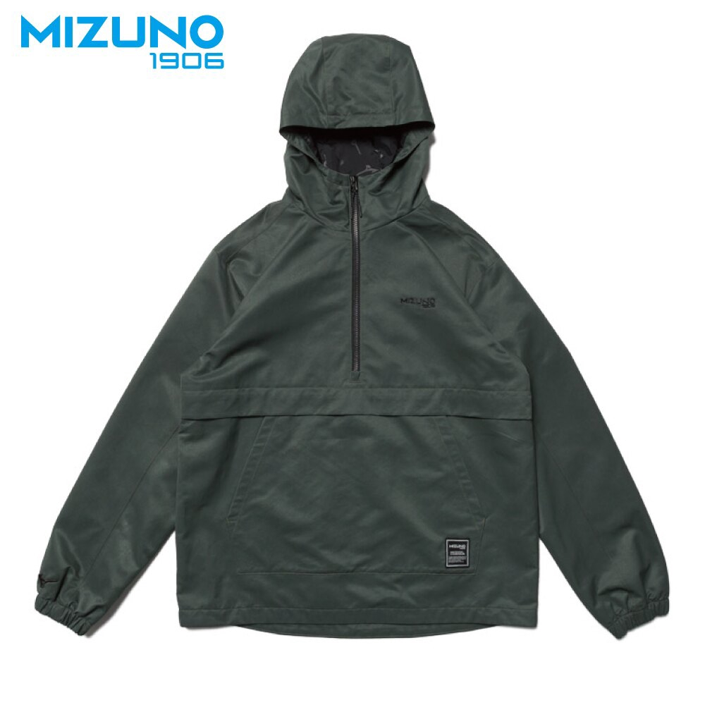 美津濃 MIZUNO SPORTS STYLE 1906系列 男款平織防風衣 D2TC957337 軍綠 大尺碼