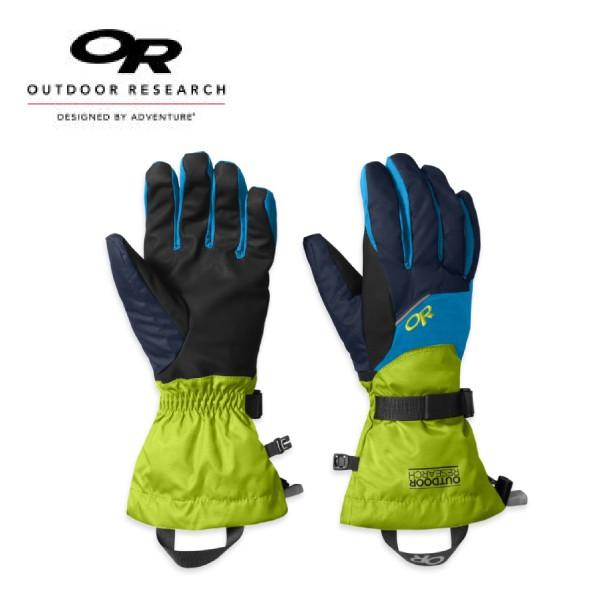 【Outdoor Research 美國 男防水透氣保暖手套 藍/綠】71260/防水手套/保暖手套/悠遊山水