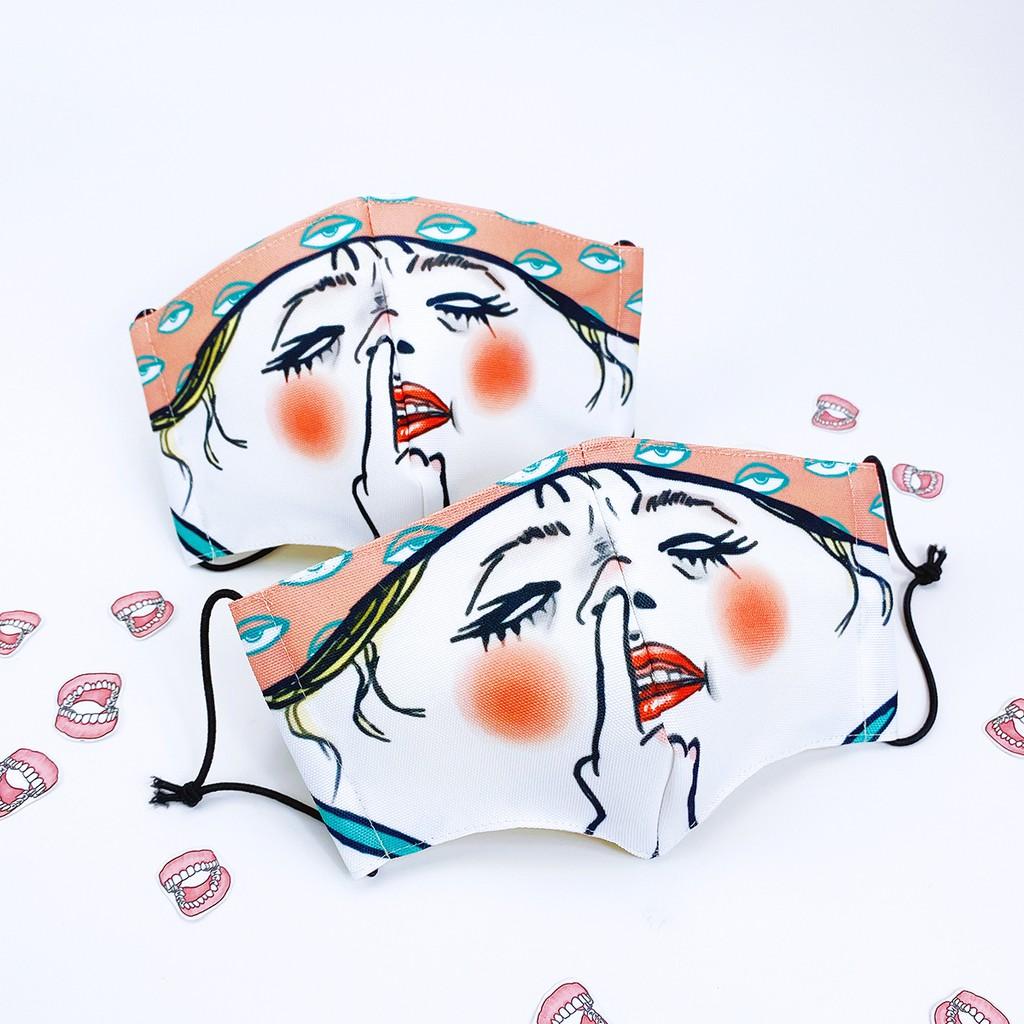 【Shock MAMA 蛋定人生】豬鼻女 布口罩