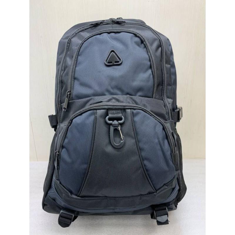 SPYWALK電腦背包/登山包後背包/休閒後背包 深藍配黑