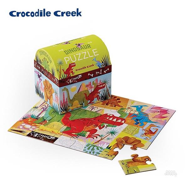 《美國Crocodile Creek》迷你造型盒學習拼圖-校車(24片)