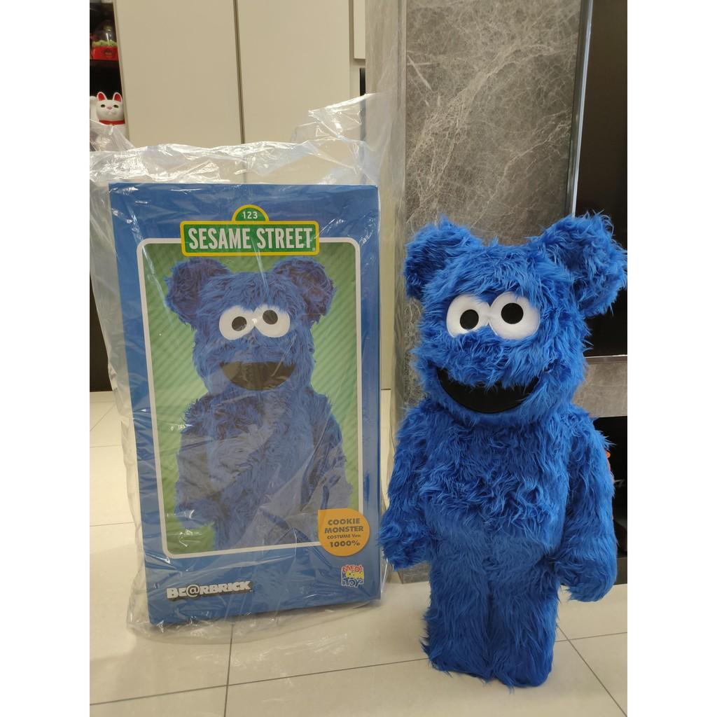 be@rbrick 餅乾怪獸 1000% Cookie Monster 芝麻街 積木熊 暴力熊 庫柏力克熊 高雄現貨