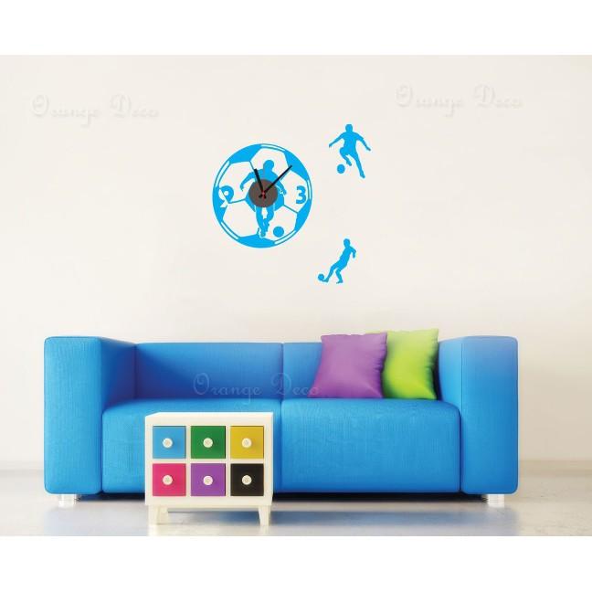 【橘果設計】足球 靜音壁貼時鐘 不傷牆設計 牆貼 壁紙裝潢