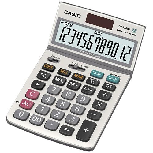 【CASIO】JW-120MS 12位數 可掀式面板 商用標準型 計算機正版宏崑公司貨