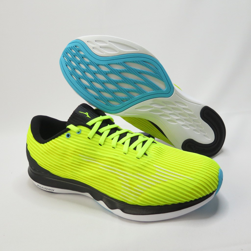 Mizuno WAVE SHADOW4 3E寬楦 慢跑鞋 J1GC202701 螢光黃綠 男款【iSport愛運動】