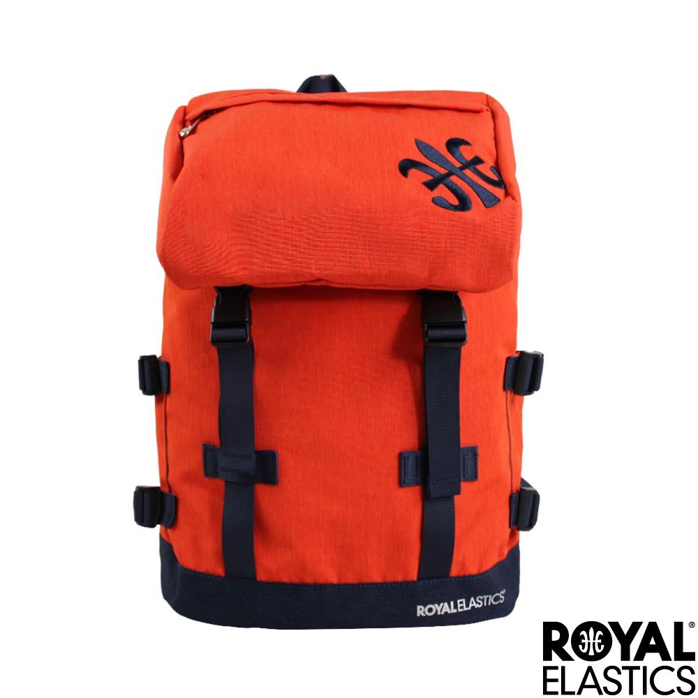 【RoyalElastics】休閒大容量後背包 橘紅 Festival山林搖滾系列