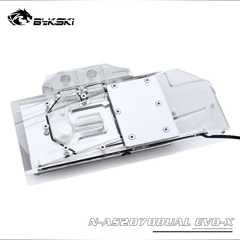 Bykski N-AS2070DUAL EVO-X華碩RTX 2070 O8G EVO全覆蓋GPU水冷頭