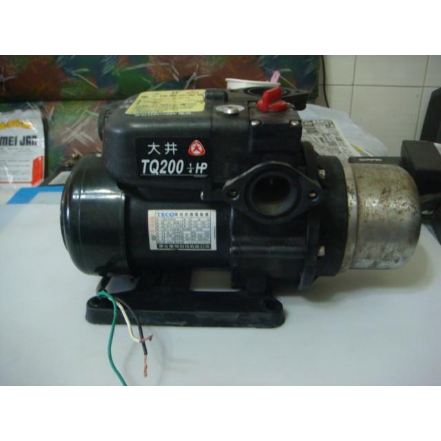 大井~穩壓加壓機/抽水機~TQ200~1/4HP~東元馬達~電壓AC110V/220V