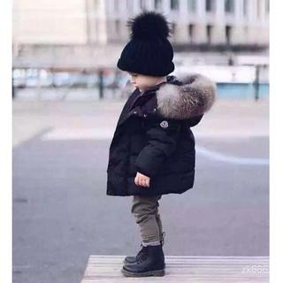【限時折扣】男童女童連帽保暖羽絨外套 毛毛韓版大毛領大衣 寶寶羽絨外套