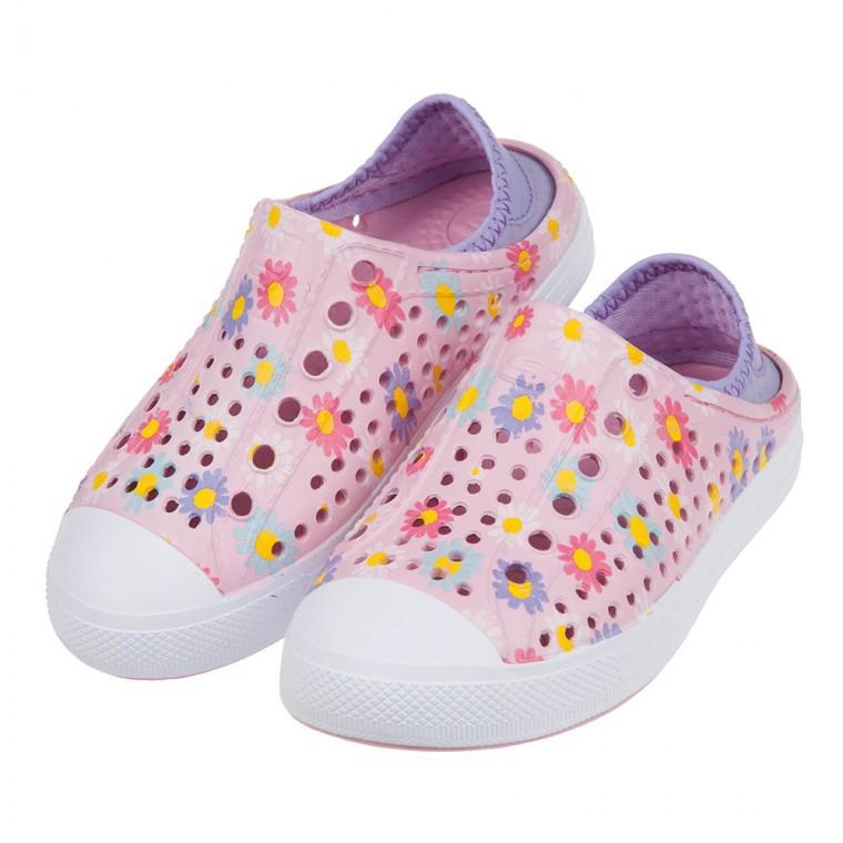 嘟嘟童鞋/(17~22公分)SKECHERS粉紅色兒童洞洞運動水鞋休閒鞋