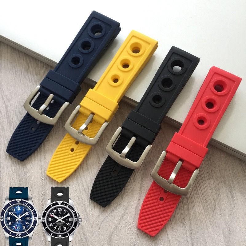 (Bo Lanxun) 透氣, 防塵, 防塵的矽橡膠錶帶, 適用於Breitling Avengers Ocean 22