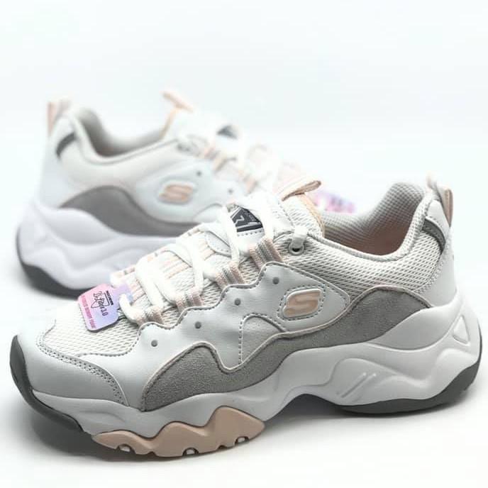 Skechers D'lites 3.0 韓版 女款 白粉 老爹鞋 12955WGPK 剩25.5[Q1現貨]