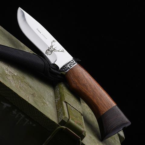 新款戶外多功能 防身 冷兵器俄羅斯隨身煅打復古小直刀軍刀切肉刀