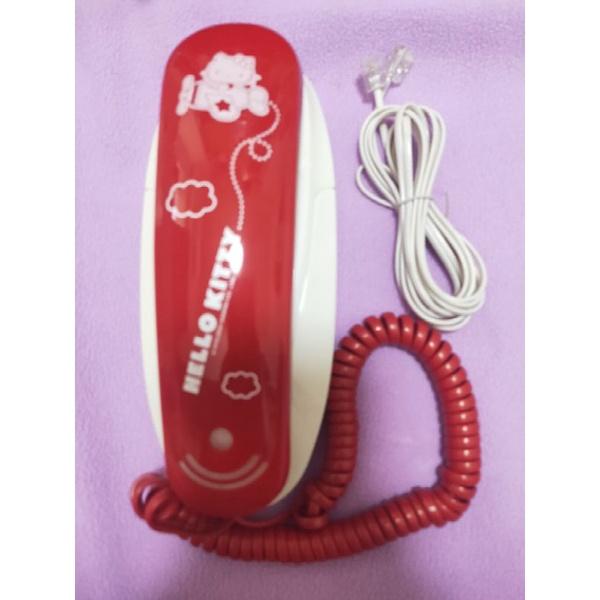 全新] Hello Kitty 造型 電話 桌上型電話機 家用型電話機 房間型電話機 壁掛型 凱蒂貓 可愛 收