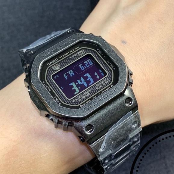卡西歐G-SHOCK限定款復古做舊方塊GMW-B5000V-1/1JR 電波男錶