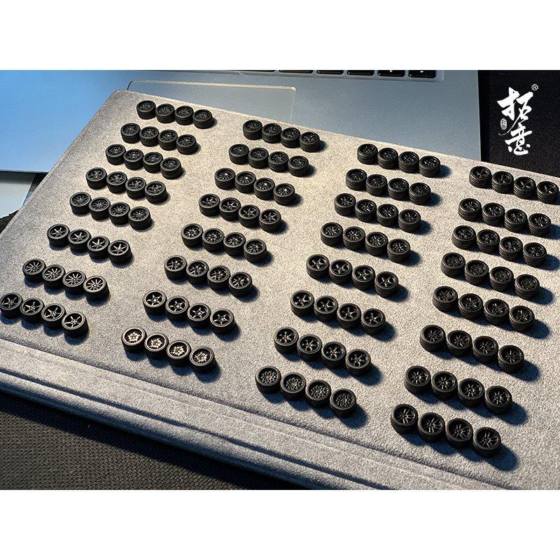 1/64 輪圈 輪轂 二改 拓意出品 1:64 改裝系列 小車改造 輪轂輪胎膠胎 11mm rH9E