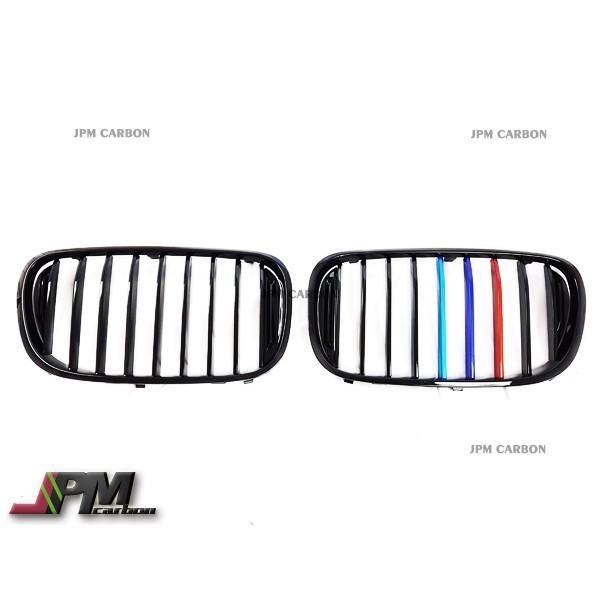 全新 BMW G11 7系列 Performance LOOK 亮黑金屬三色 Grille 水箱罩 大鼻頭 水箱護罩