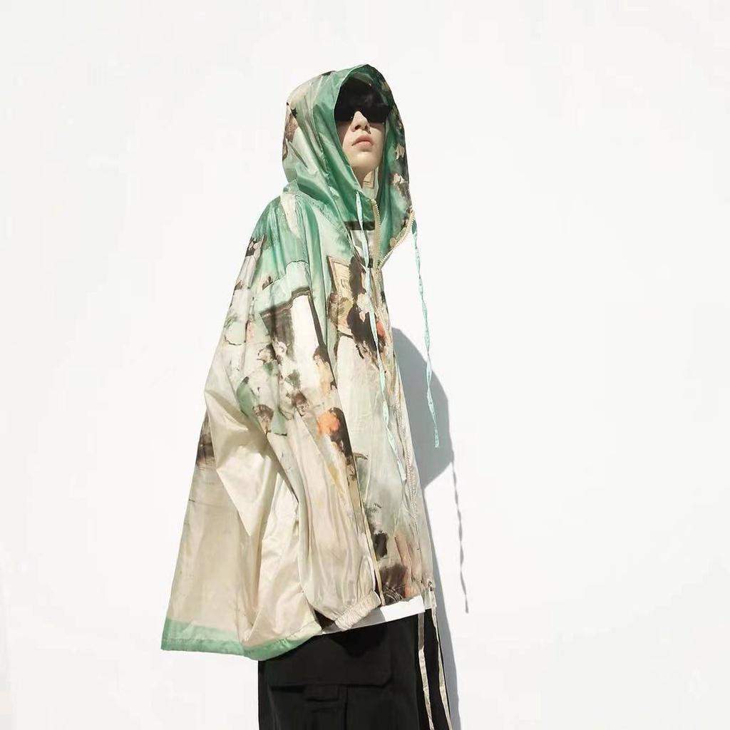 【防疫防曬衣】潮牌復古防曬衣外套男女夏大碼冰絲防曬服超薄款透氣夾克ins潮流、升級冰絲涼感