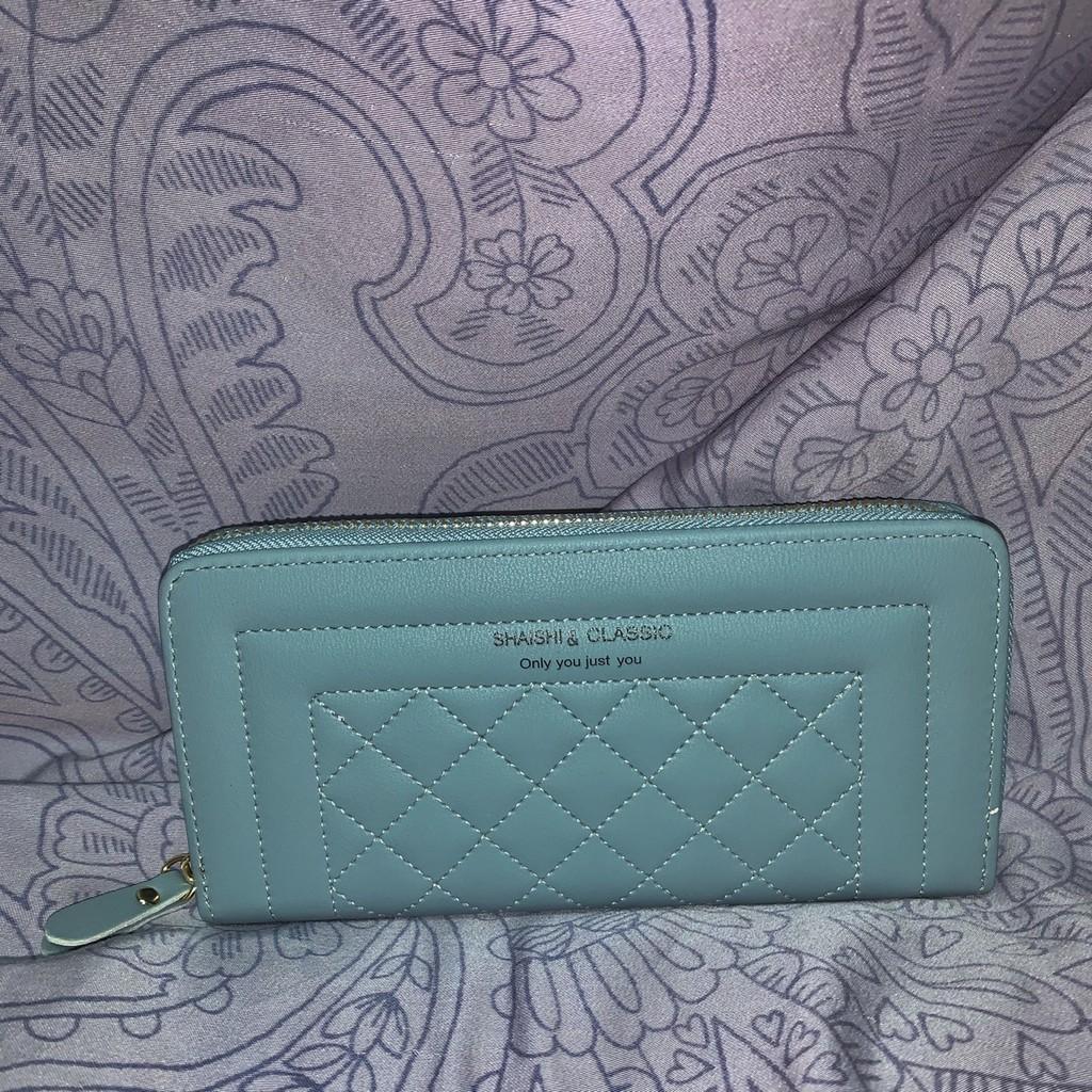 🇰🇷Korea🇰🇷高質感Tiffany藍長夾