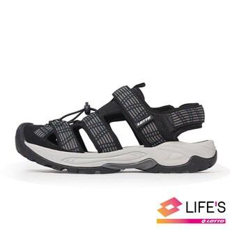英德鞋坊~LOTTO樂得義大利第一品牌 男款護趾排水運動涼鞋 [1650] 黑特賣850元