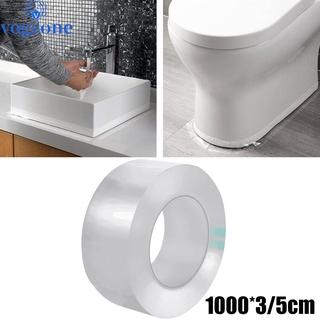 廚房水槽膠帶防水密封條透明浴室 1000cm